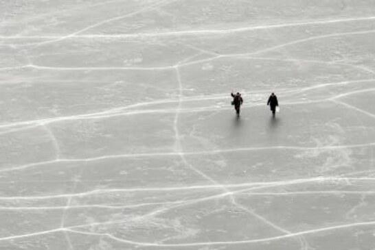 В Нижегородской области с отколовшейся льдины спасли девятерых рыбаков