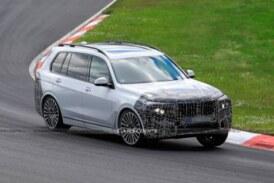 Обновленный BMW X7 подловили на тестах в Нюрбургринге