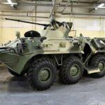 Российский БТР-82А блокировал дорогу американским бронемашинам в Сирии